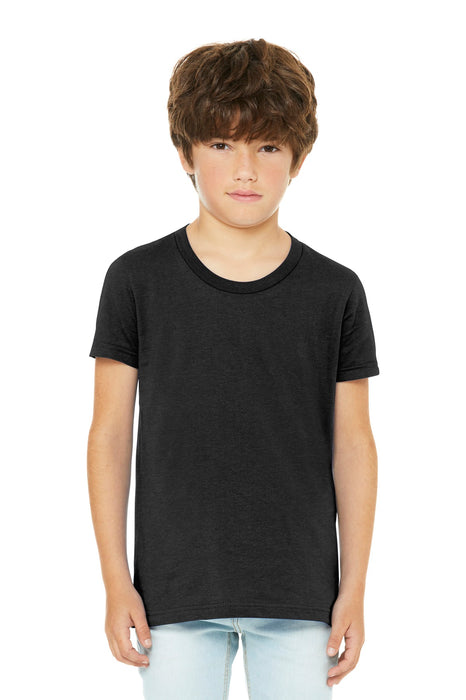 BELLA+CANVAS ® Youth Jersey Short Sleeve Tee. BC3001Y (Black Heather)