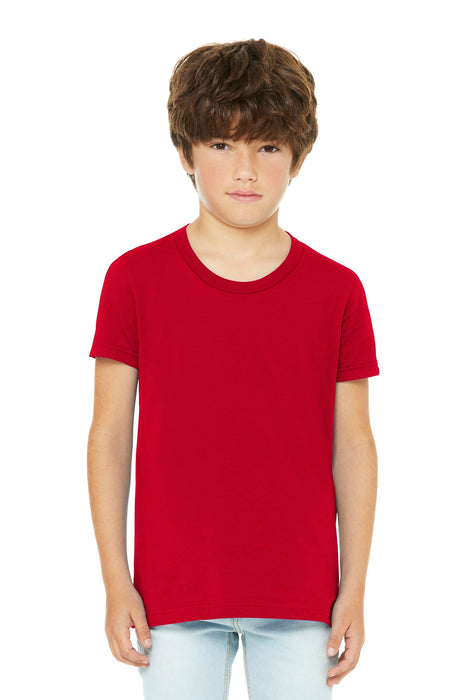 BELLA+CANVAS ® Youth Jersey Short Sleeve Tee. BC3001Y (Red)