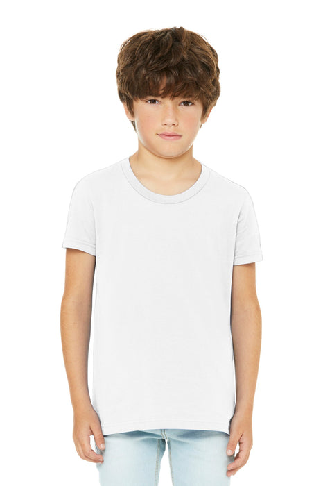 BELLA+CANVAS ® Youth Jersey Short Sleeve Tee. BC3001Y (White)