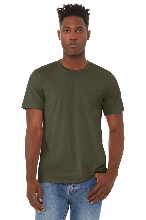 BELLA+CANVAS ® Unisex Jersey Short Sleeve Tee. BC3001 (Dark Olive)