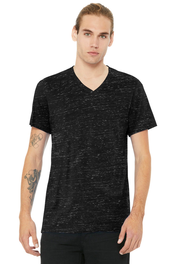 BELLA+CANVAS ® Unisex Jersey Short Sleeve V-Neck Tee. BC3005 (Black Marble)
