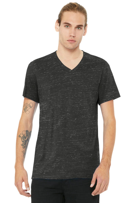 BELLA+CANVAS ® Unisex Jersey Short Sleeve V-Neck Tee. BC3005 (Charcoal Marble)