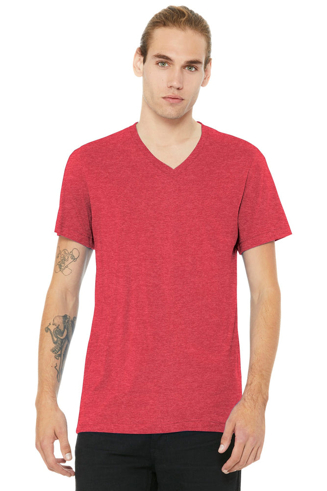 BELLA+CANVAS ® Unisex Jersey Short Sleeve V-Neck Tee. BC3005 (Heather Red)