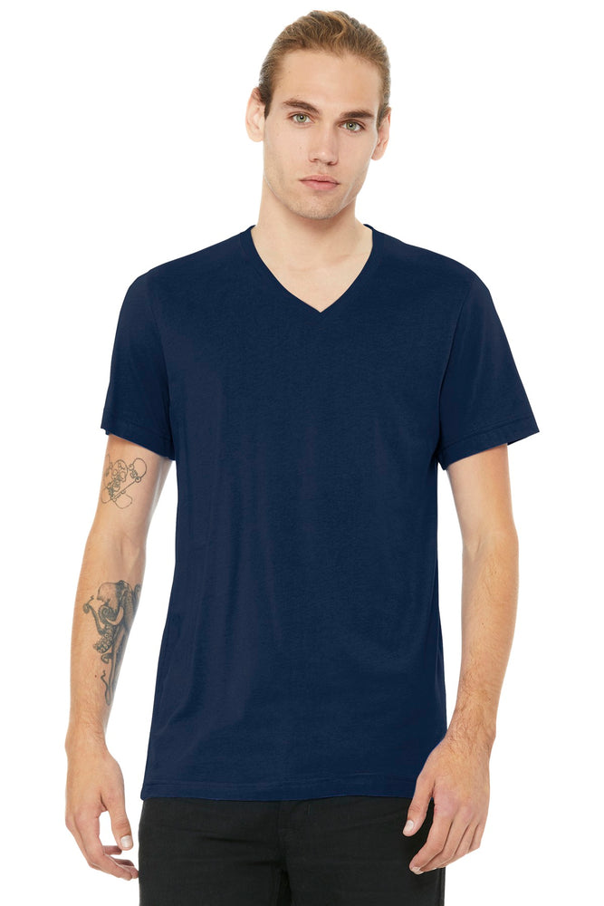 BELLA+CANVAS ® Unisex Jersey Short Sleeve V-Neck Tee. BC3005 (Navy)