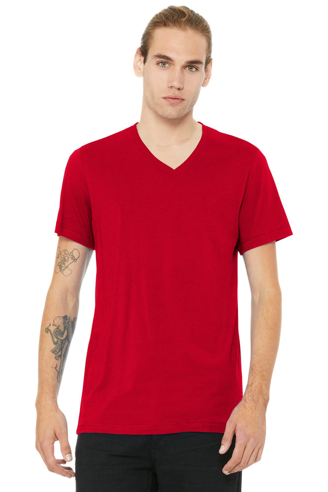 BELLA+CANVAS ® Unisex Jersey Short Sleeve V-Neck Tee. BC3005 (Red)