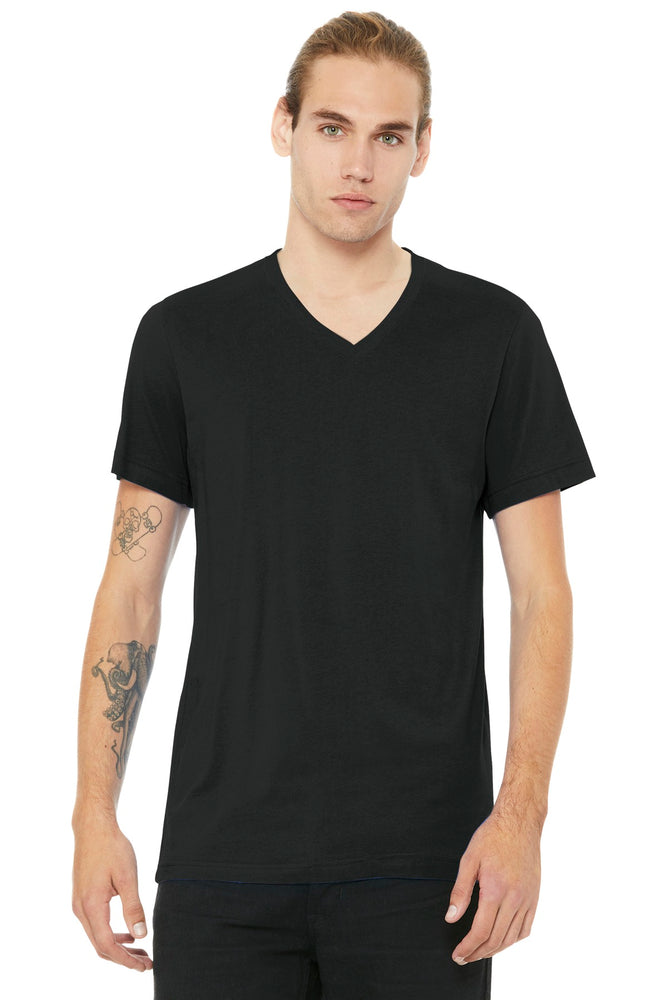 BELLA+CANVAS ® Unisex Jersey Short Sleeve V-Neck Tee. BC3005 (Vintage Black)