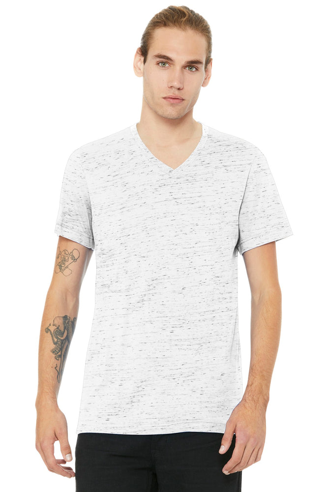 BELLA+CANVAS ® Unisex Jersey Short Sleeve V-Neck Tee. BC3005 (White Marble)