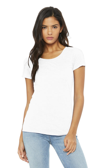 BELLA+CANVAS ® Women's Triblend Short Sleeve Tee. BC8413 (Solid White Triblend)