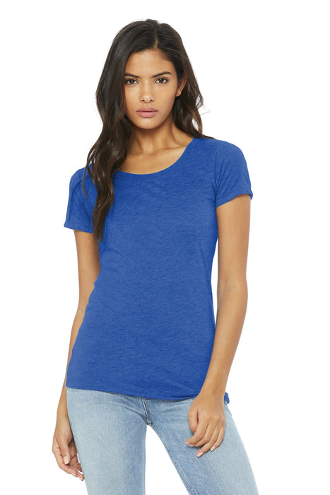 BELLA+CANVAS ® Women's Triblend Short Sleeve Tee. BC8413 (True Royal Triblend)