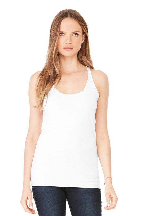 BELLA+CANVAS ® Women's Triblend Racerback Tank. BC8430 (Solid White Triblend)
