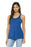 BELLA+CANVAS ® Women's Flowy Racerback Tank. BC8800 (True Royal Marble)