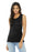 BELLA+CANVAS ® Women's Flowy Scoop Muscle Tank. BC8803 (Black Marble)