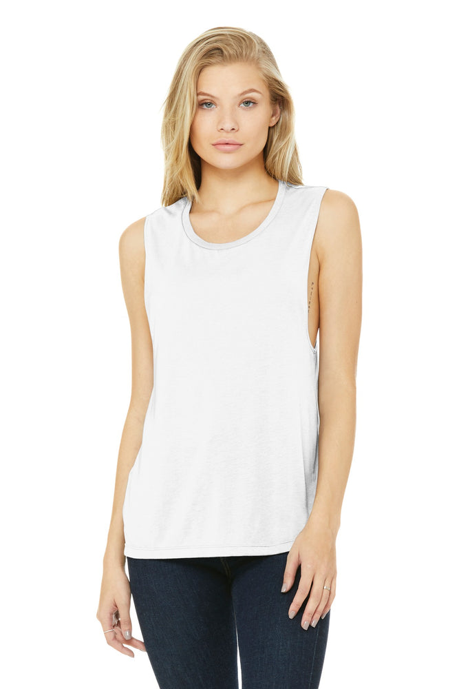 BELLA+CANVAS ® Women's Flowy Scoop Muscle Tank. BC8803 (White)