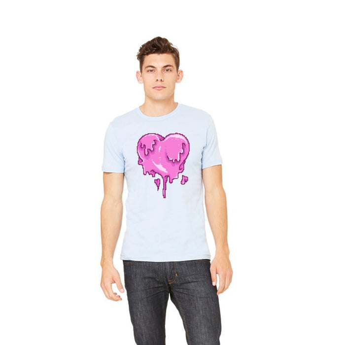 Pixel Melted Heart Graphic Tee