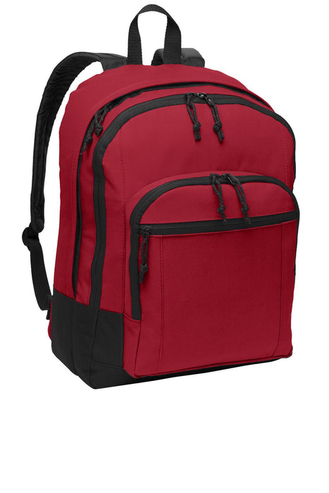 Port Authority® Basic Backpack. BG204 (Red)