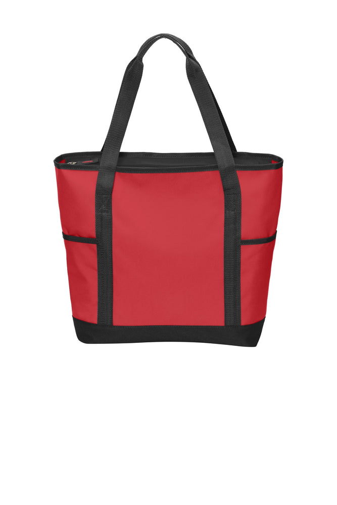 Port Authority® On-The-Go Tote. BG411 (Chili Red/Black)