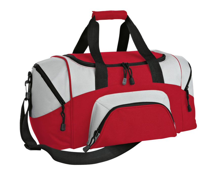 Port Authority® - Small Colorblock Sport Duffel. BG990S (Red/Grey)