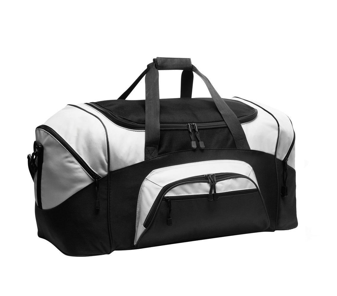 Port Authority® - Standard Colorblock Sport Duffel.  BG99 (Black/Grey)