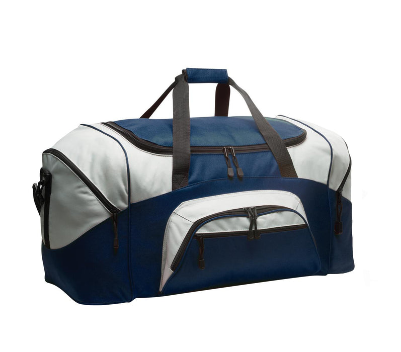 Port Authority® - Standard Colorblock Sport Duffel.  BG99 (Navy/Grey)