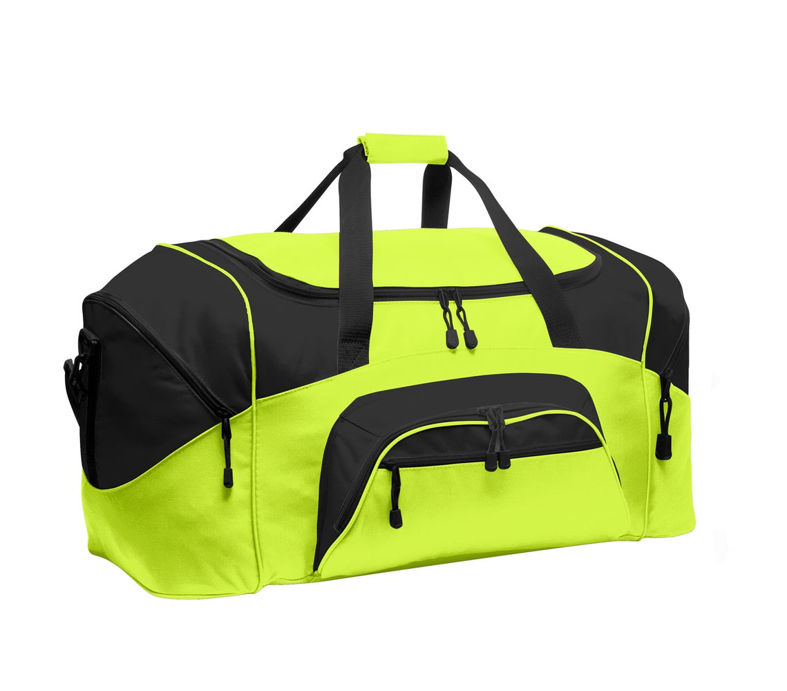 Port Authority® - Standard Colorblock Sport Duffel.  BG99 (Safety Yellow/Black)