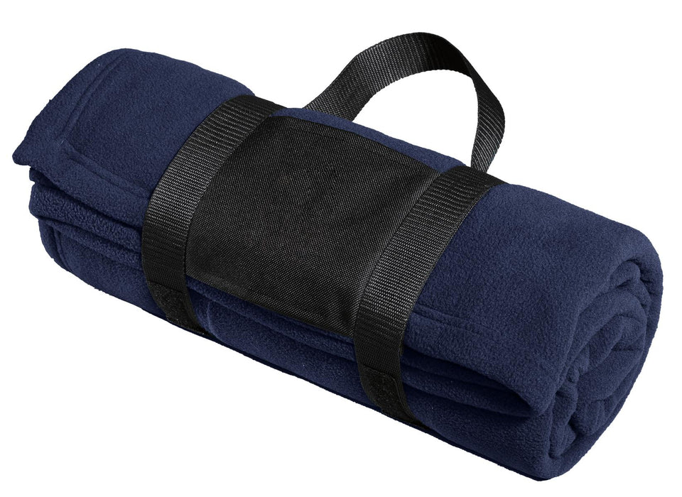 Port Authority® Fleece Blanket with Carrying Strap. BP20 (True Navy)