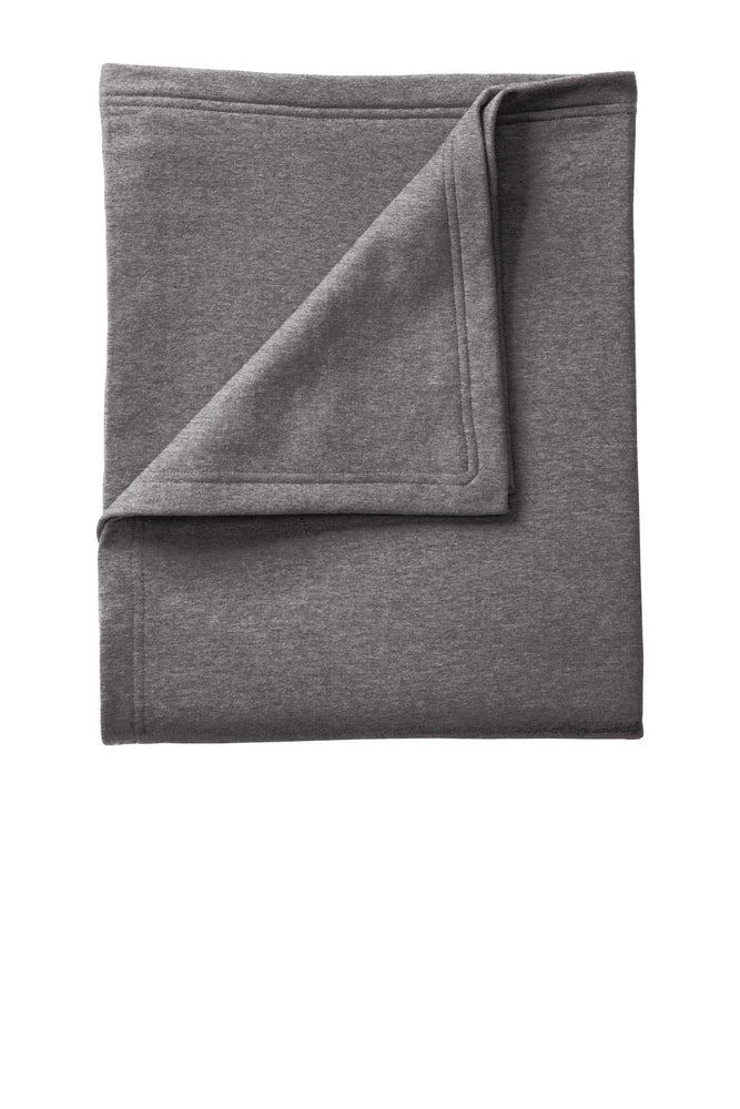 Port & Company® Core Fleece Sweatshirt Blanket. BP78 (Dark Heather Grey)