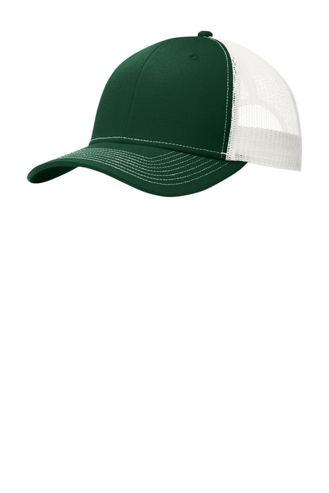 Port Authority® Snapback Trucker Cap. C112 (Dark Green/White)
