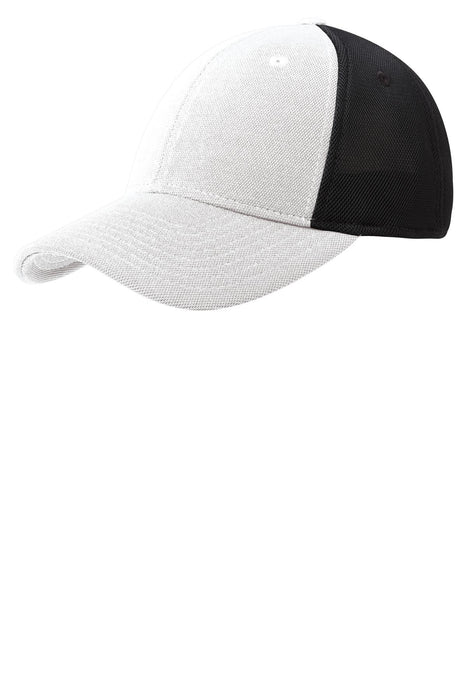 Port Authority® Pique Mesh Cap. C826 (White/Black)