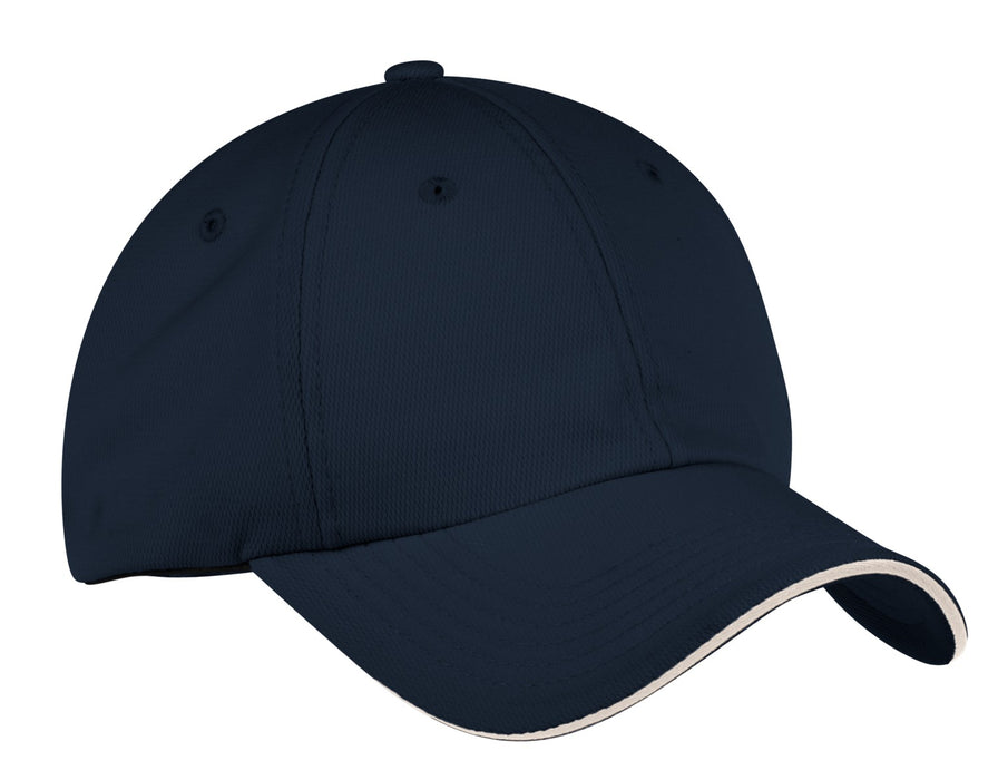 Port Authority® Dry Zone® Cap.  C838 (Classic Navy/White)