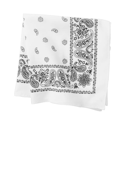 Port Authority® Bandana.  C842 (White Paisley)