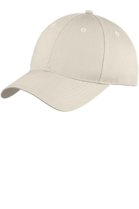 Port & Company® Youth Six-Panel Unstructured Twill Cap. YC914 (Oyster)