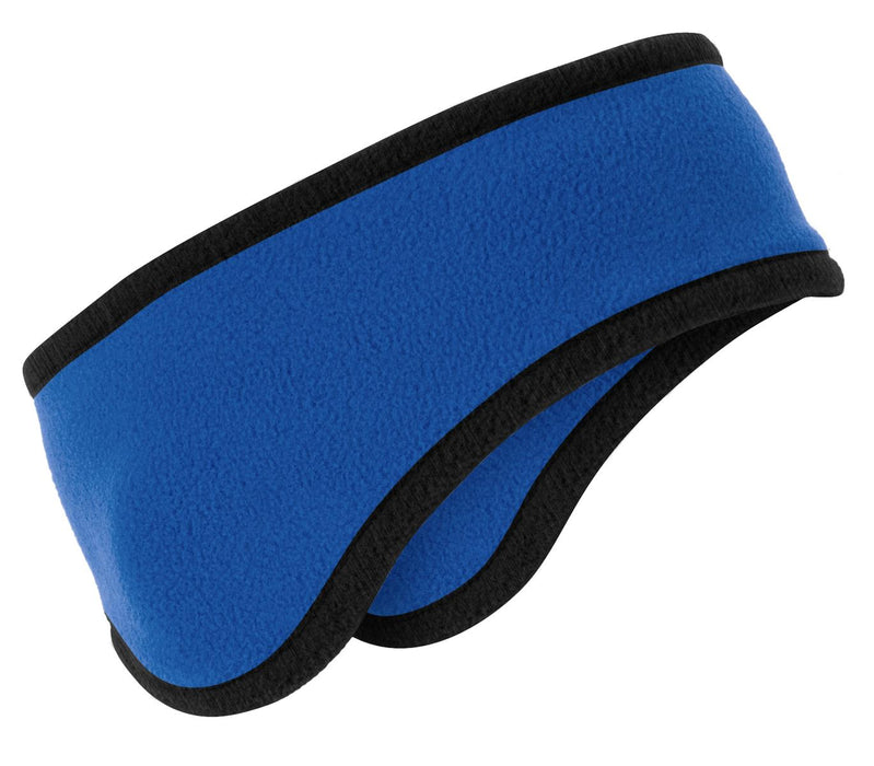 Port Authority® Two-Color Fleece Headband. C916 (Royal)