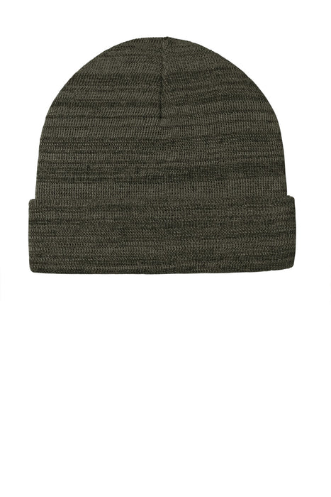 Port Authority ® Knit Cuff Beanie C939 (Olive Green Heather)