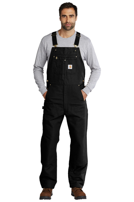 Carhartt® Duck Unlined Bib Overalls. CT102776 (Black)