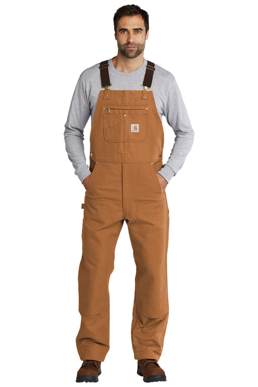 Carhartt® Duck Unlined Bib Overalls. CT102776 (Carhartt Brown)