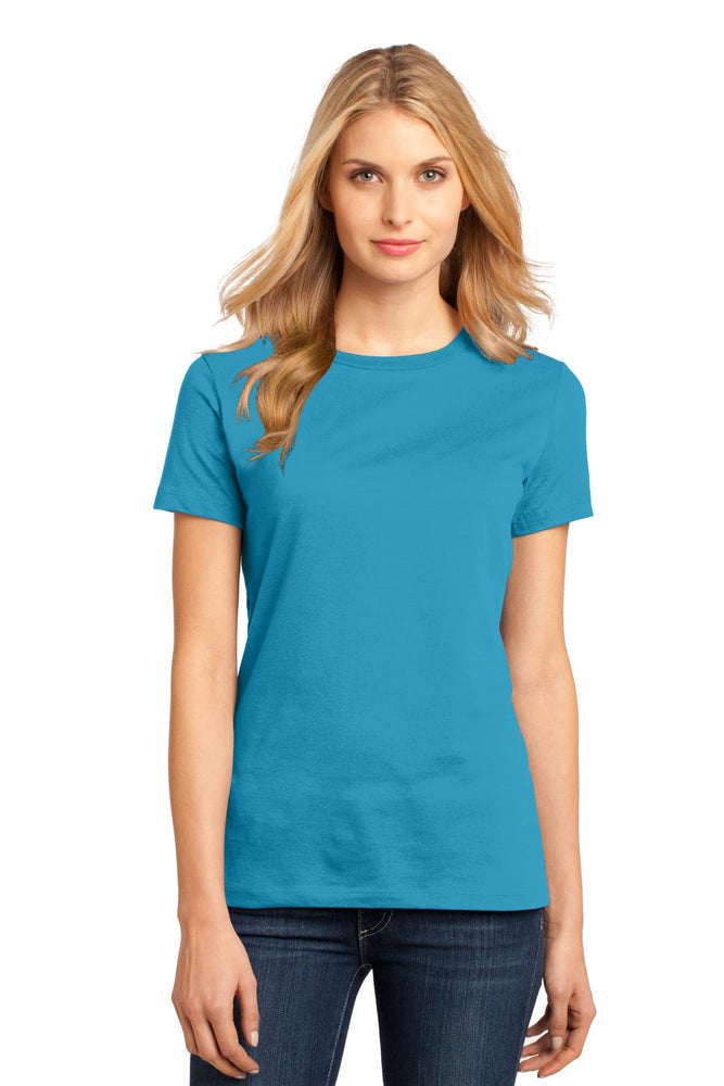 District® Women's Perfect Weight®Tee. DM104L (Bright Turquoise)