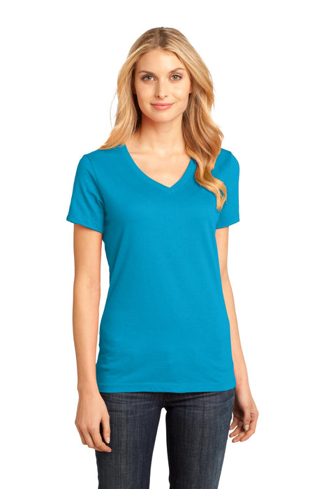 District® - Women's Perfect Weight® V-Neck Tee. DM1170L (Bright Turquoise)