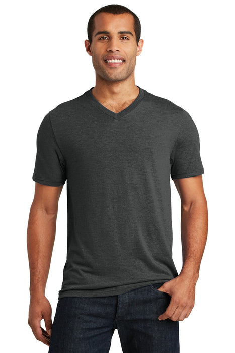 District ®  Perfect Tri® V-Neck Tee. DT1350 (Black Frost)