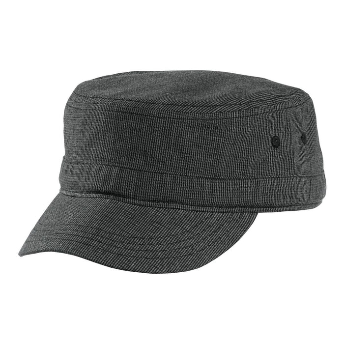 District® Houndstooth Military Hat DT619 (Black/Charcoal)