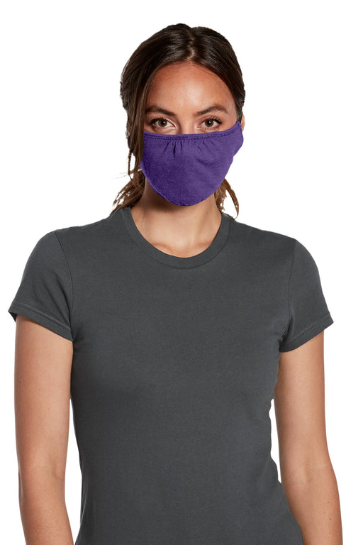 District ® V.I.T. ™ Shaped Face Mask 5 pack (100 packs = 1 Case) DTMSK01 (Heather Purple)