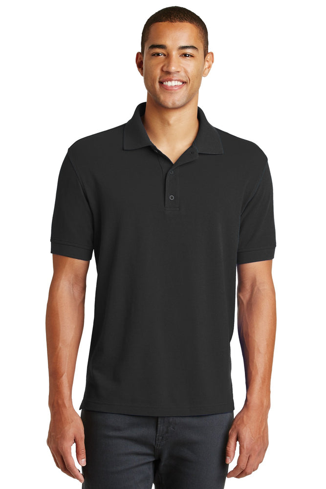 Eddie Bauer® Cotton Pique Polo. EB100 (Black)