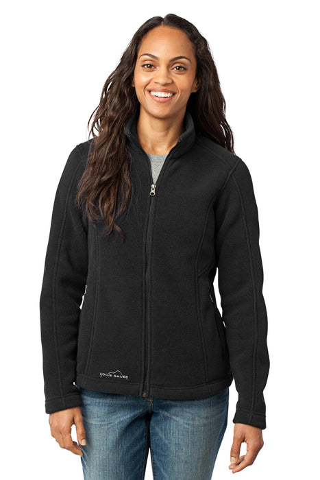 Eddie Bauer® - Ladies Full-Zip Fleece Jacket. EB201 (Black)