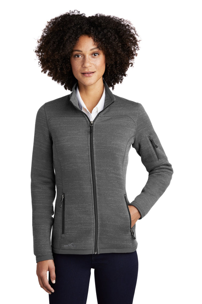 Eddie Bauer ® Ladies Sweater Fleece Full-Zip. EB251 (Dark Grey Heather)