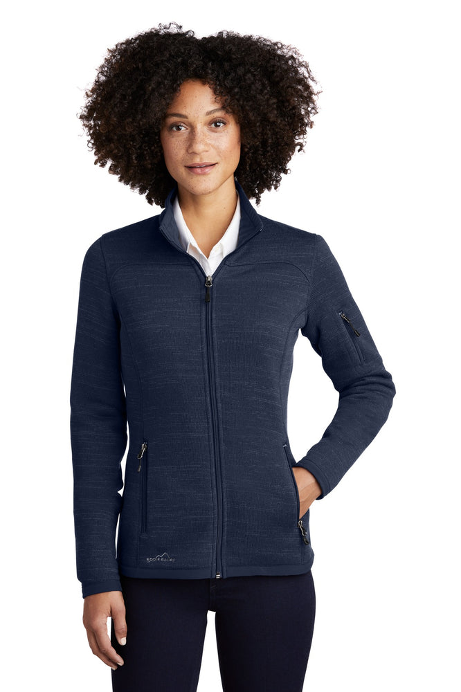 Eddie Bauer ® Ladies Sweater Fleece Full-Zip. EB251 (River Blue Heather)