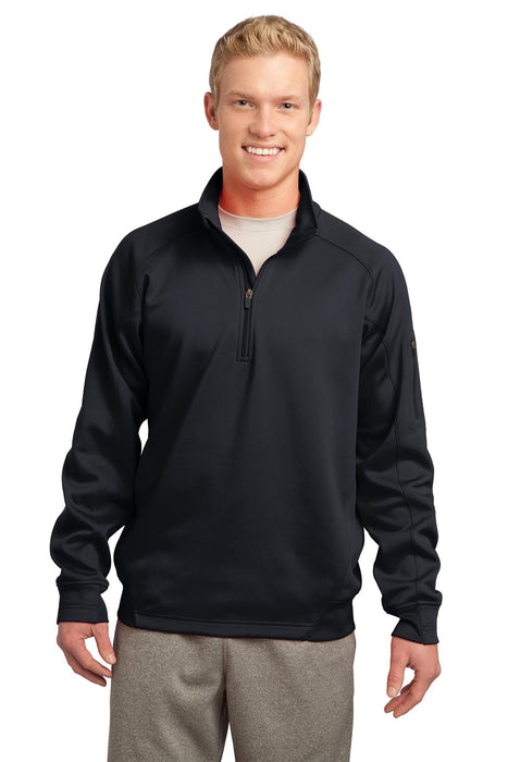 Sport-Tek® Tech Fleece 1/4-Zip Pullover. F247 (Black)