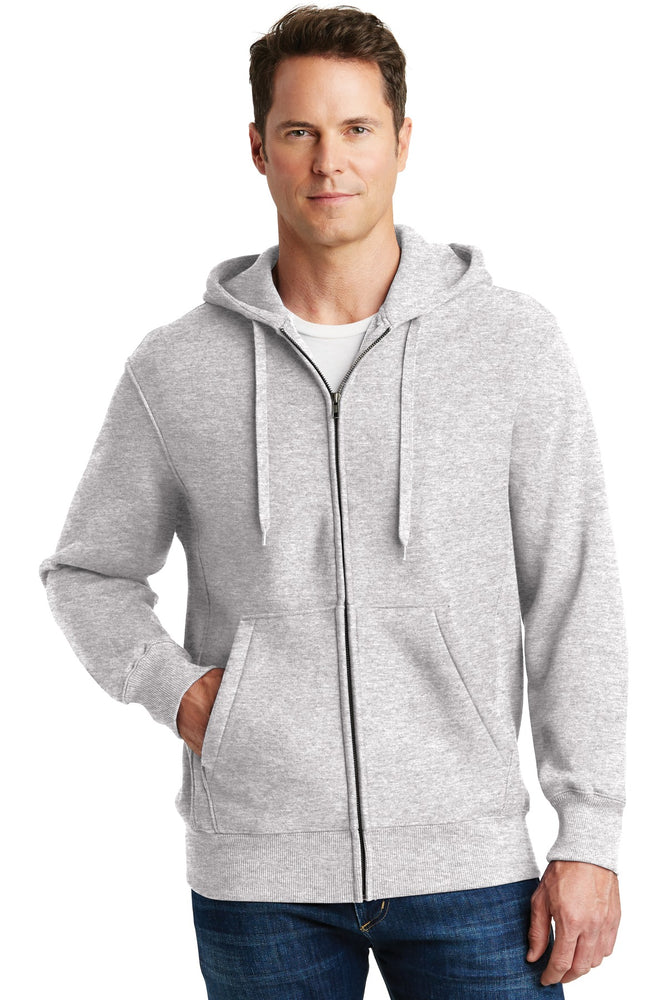 Sport-Tek® Super Heavyweight Full-Zip Hooded Sweatshirt.  F282 (Athletic Heather)