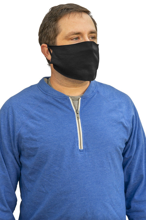 50/50 Cotton/Poly Face Covering. FACECOVER (Black)