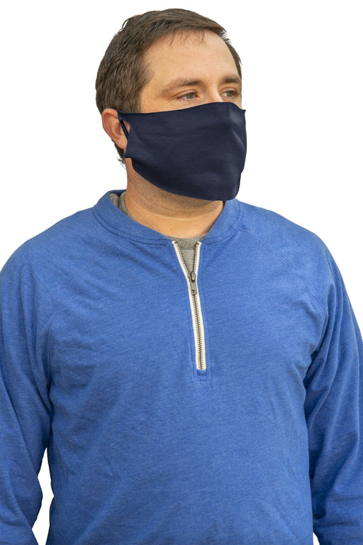 50/50 Cotton/Poly Face Covering. FACECOVER (Navy)