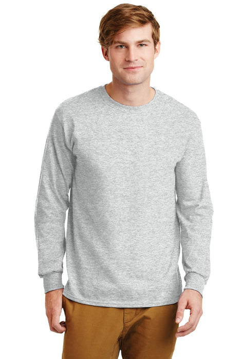 Gildan® - Ultra Cotton® 100% Cotton Long Sleeve T-Shirt.  G2400 (Ash)