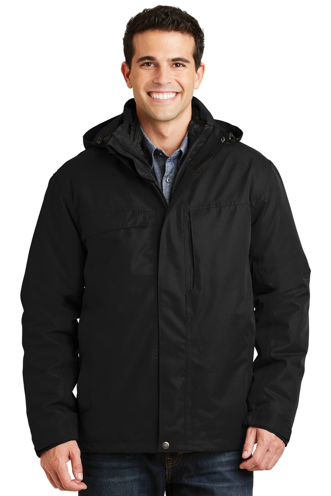 Port Authority® Herringbone 3-in-1 Parka. J302 (Black)
